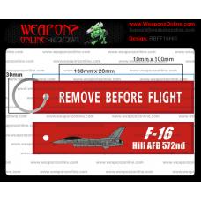 Custom F-16 Hill AFB 572nd Remove Before Flight ®