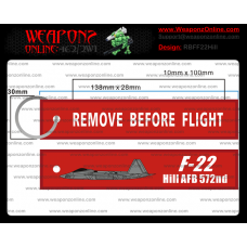 Custom F-22 Hill AFB 572nd Remove Before Flight ®