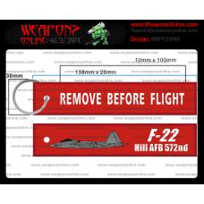 Custom F-22 Hill AFB 572nd Remove Before Flight ®