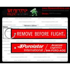 Custom Purolator International Remove Before Flight ®