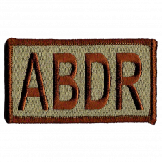 ABDR Duty Identifier Tab / Patch