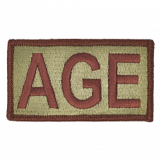 AGE Duty Identifier Tab / Patch  (Back Order: Est. March 26th)