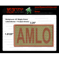 AMLO Duty Identifier Tab / Patch (Minimum order 25pcs)