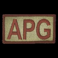 APG Duty Identifier Tab / Patch