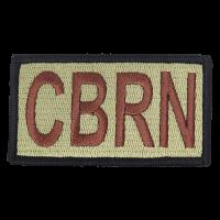 CBRN Duty Identifier Tab / Patch (Black Border)