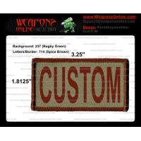 Custom Duty Identifier Tab / Patch (Minimum order 25pcs)