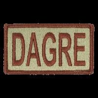 DAGRE Duty Identifier Tab / Patch (Minimum order 25pcs)