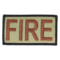 FIRE Duty Identifier Tab / Patch (Black Border)
