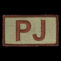 PJ Duty Identifier Tab / Patch (Minimum order 25pcs)
