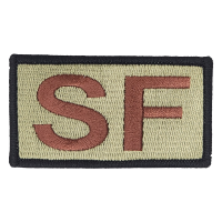 SF Duty Identifier Tab / USAF OCP Patch (Black Border)