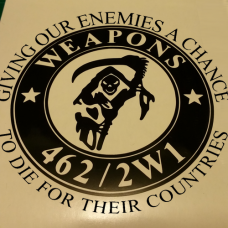 Weapons 462/2W1 Decal (With Quote)