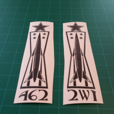 7 Level Missile Badge Decal