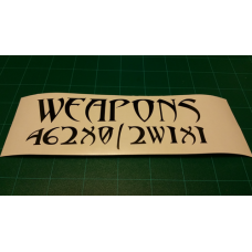 Weapons 462X0 / 2W1X1 Decal
