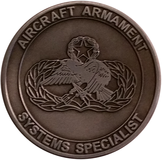 Custom Aircraft Armament Challenge Coin